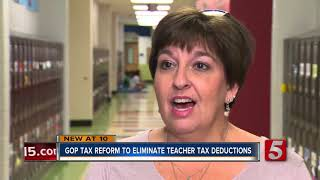 GOP Tax Bill To Eliminate Teacher Deductions On School Supplies