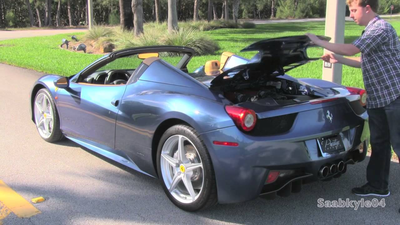 2015 Ferrari 458 Italia Spider Start Up Test Drive And