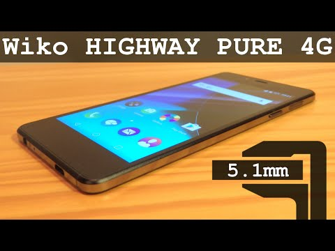Wiko HIGHWAY Pure 4G 16Gb Quad Core 2Gb RAM LTE and only 5.1mm Thick!