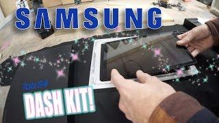 Acrylic Samsung dash kit + suede T-Bird sun visor - White Rider #86