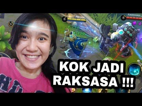 CEWEKU KAGET SETENGAH MATI PAKE ESTES BISA BERUBAH GEDE !!! - Mobile Legend Indonesia