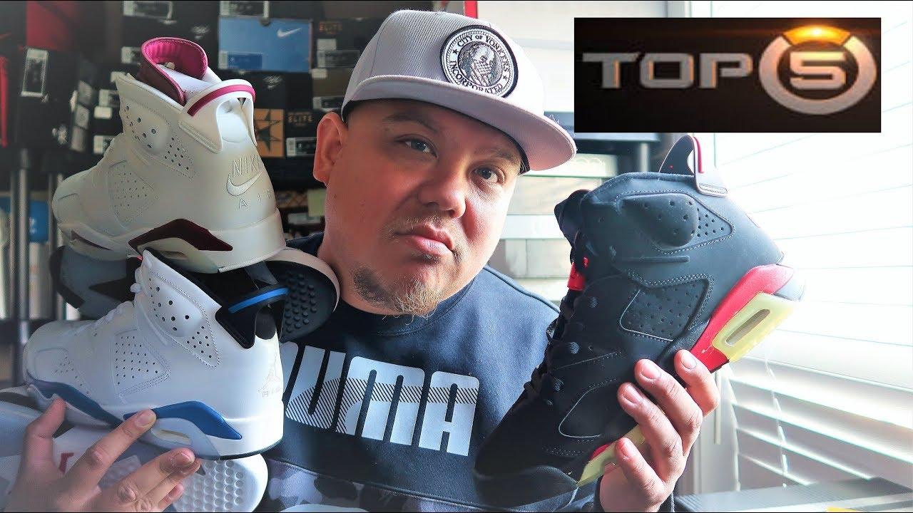 new arrival 44216 58154 TOP 5 OG COLORWAYS OF THE AIR JORDAN 6 SNEAKERS FROM MICHAEL JORDAN  #sneakerhead