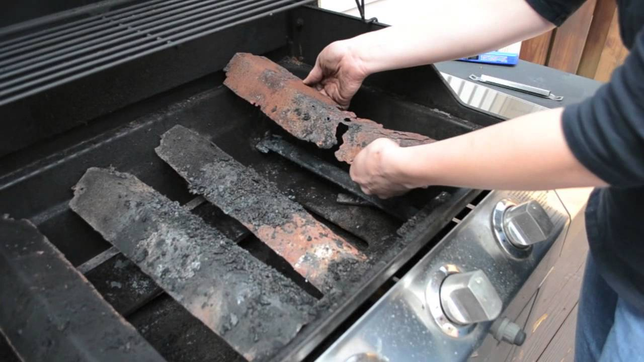 Gas Grill Repair Replace The Heat Shield Youtube