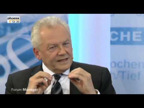 PHOENIX Forum Manager - Zu Gast: Rüdiger Grube - Vorstandsvorsitzender der Bahn - 13.01.2013