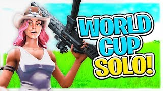 I chase one guy for 3 mins in Fortnite World Cup end zone!