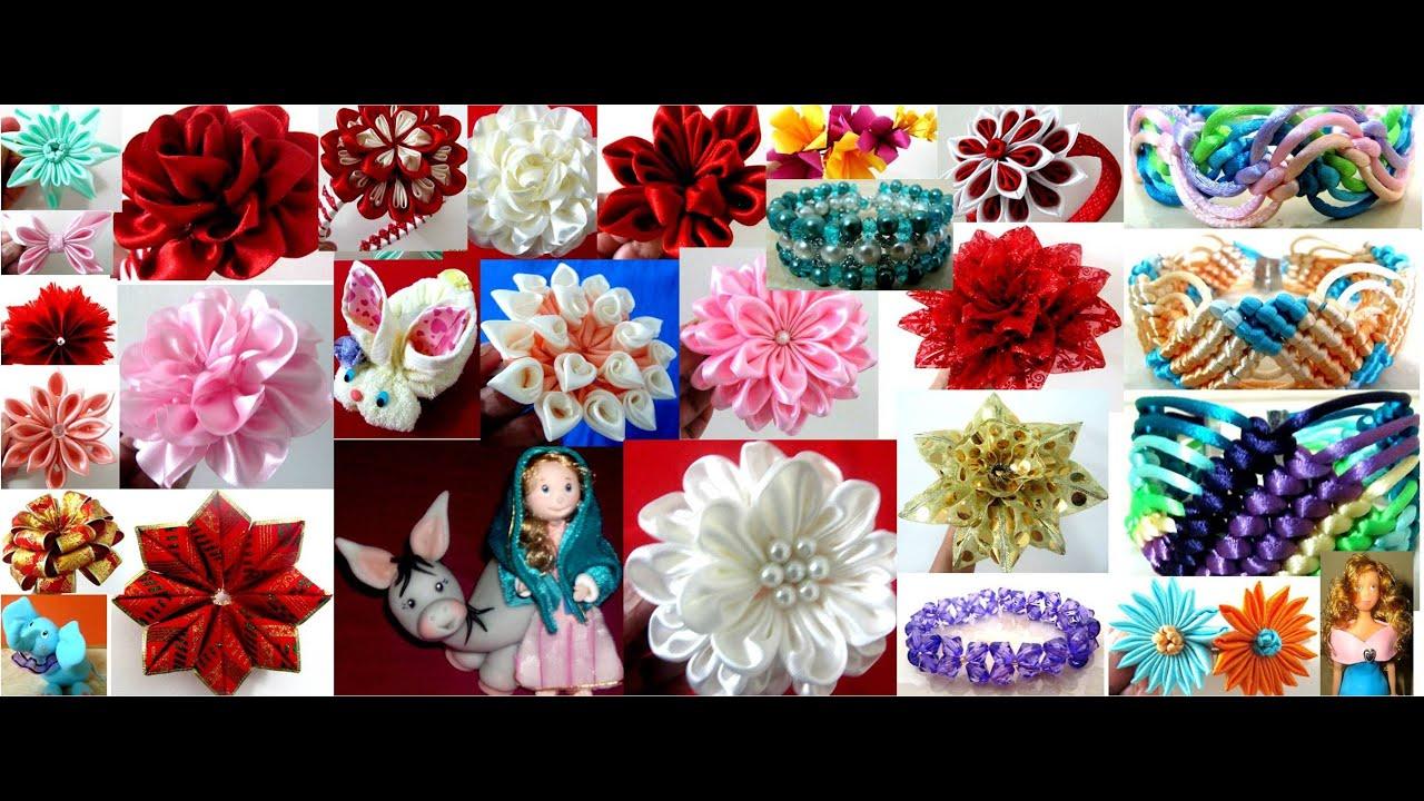 Manualidades accesorios para el cabello pulseras flores - Manualidades faciles para vender paso a paso ...