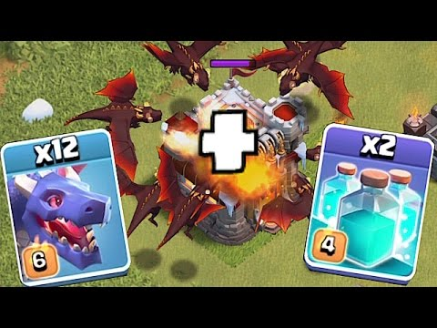 TRY IF YOU DARE!!!🔸NEW DRAGON EVENT!!🔸 Clash of clans clone spell challenge!!!