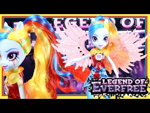 THE LEGEND OF EVER FREE Rainbow Dash New MLP Doll