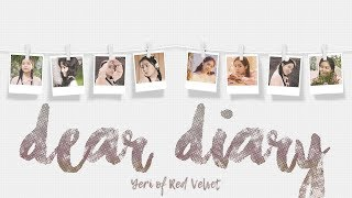 YERI - DEAR DIARY 스물에게 color coded lyrics | ENG, HAN, ROM