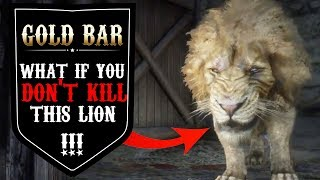 What Happens If You Don't Kill The LEGENDARY LION  In Red Dead Redemption 2 - Lion Location