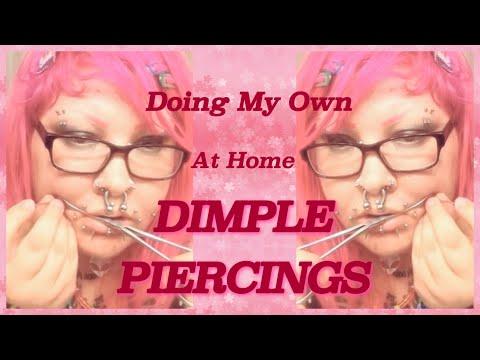dimple piercings scars