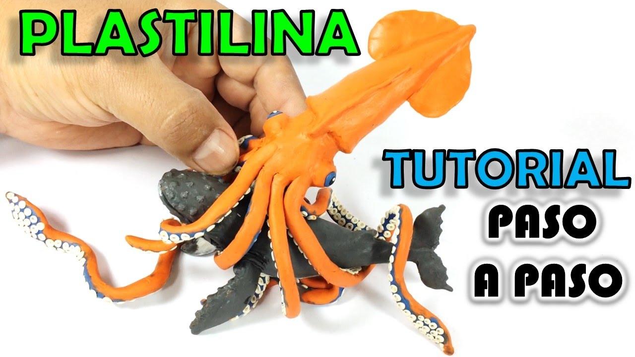 Como hacer un calamar gigante de plastilina paso a paso - Como hacer un estor enrollable paso a paso ...