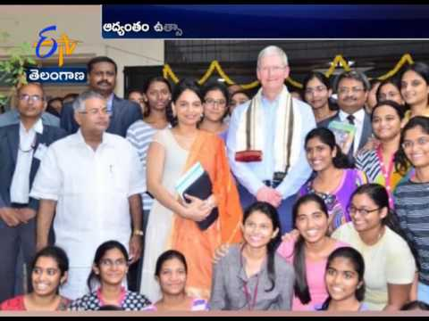 Apple's Ceo Tim Cook Hyderabad Tour Highlights
