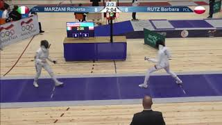 FE 2018 T08 01 F E Individual Yerevan ARM U23 European Championships BLUE RUTZ POL vs MARZANI ITA thumbnail