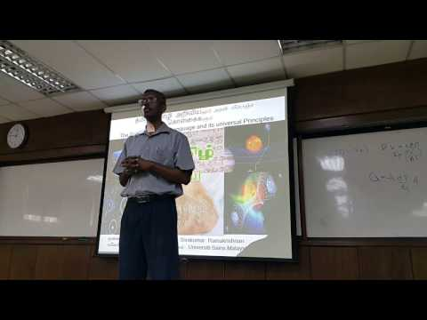 The Science of Tamil Language and its universal Principles Part 1