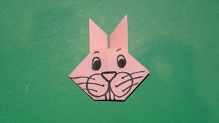 How To Make An Origami Bunny Rabbit Face