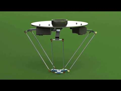 V 1.O Delta Robot Designing,Assembling And Motion Study In Solidworks    Solidworks Path Mate Motor