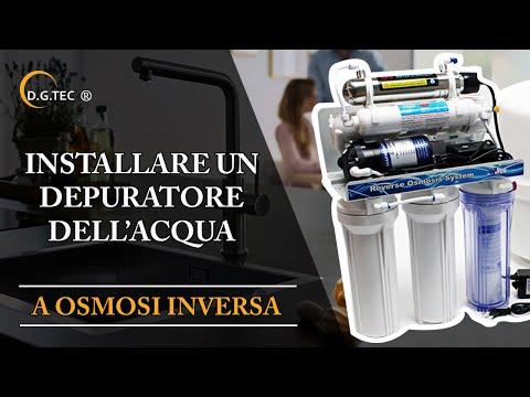 Come installare un depuratore per l'acqua a osmosi inversa eSpring