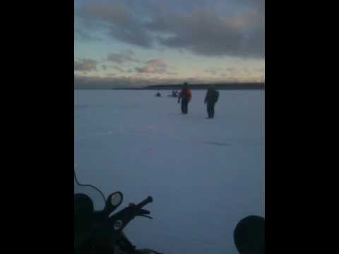 Wicked four-foot waves ruin ice-fishing trip!