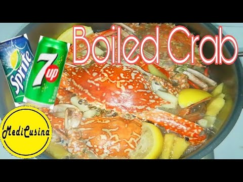 How To Cook Crab In 7up Or Sprite(Boiled Crab Recipe)