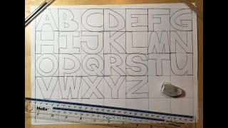 Graffiti Writing Tutorial 8 - Create your own STRAIGHT LETTER Alphabet Sheet!