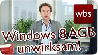 OLG Hamburg: Microsoft Windows 8 AGB unwirksam!   Was ist passiert?   Kanzlei WBS