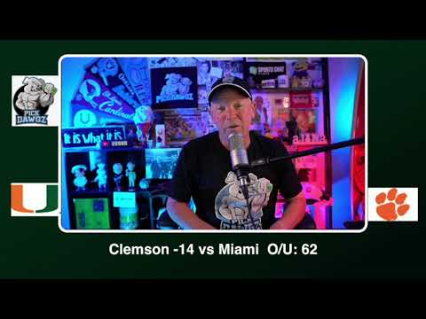 Clemson vs Miami Free College Football Picks and Predictions CFB Tips Saturday 10/10/20