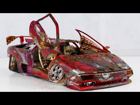 Restoration Abandoned Lamborghini Diablo Tuning Model Car By Good Restore