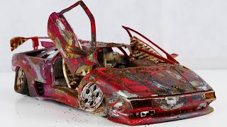 Restoration abandoned Lamborghini Diablo Tuning Model Car by Good Restore