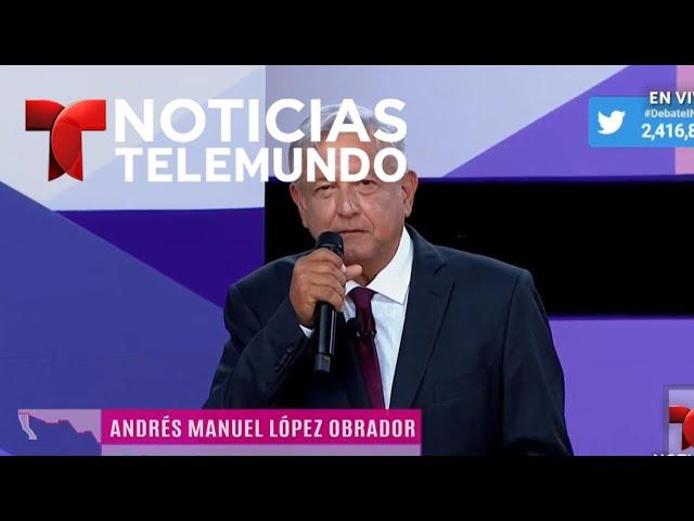 Así cerraron el 2ndo debate presidencial mexicano  Noticias   Telemundo