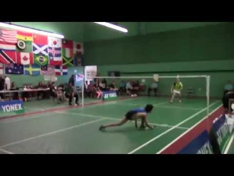 Beiwen Zhang vs. Kerry Xu(Adult Nationals-Badminton 2015)