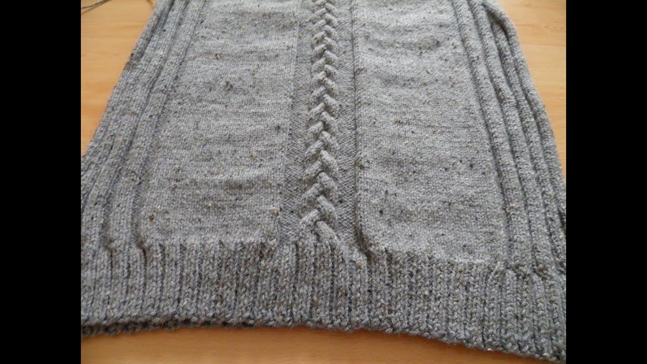 Groovy Sweter męski na drutach part 2 przód - YouTube IX04
