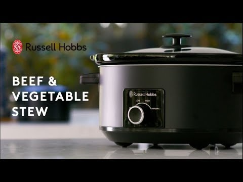 Beef And Vegetable Stew With The 7L Russell Hobbs Slow Cooker