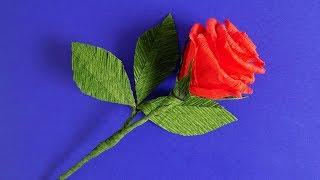 як зробити подарунок мамі на 8 березня / троянда з гофрованого паперу покрокова інструкція