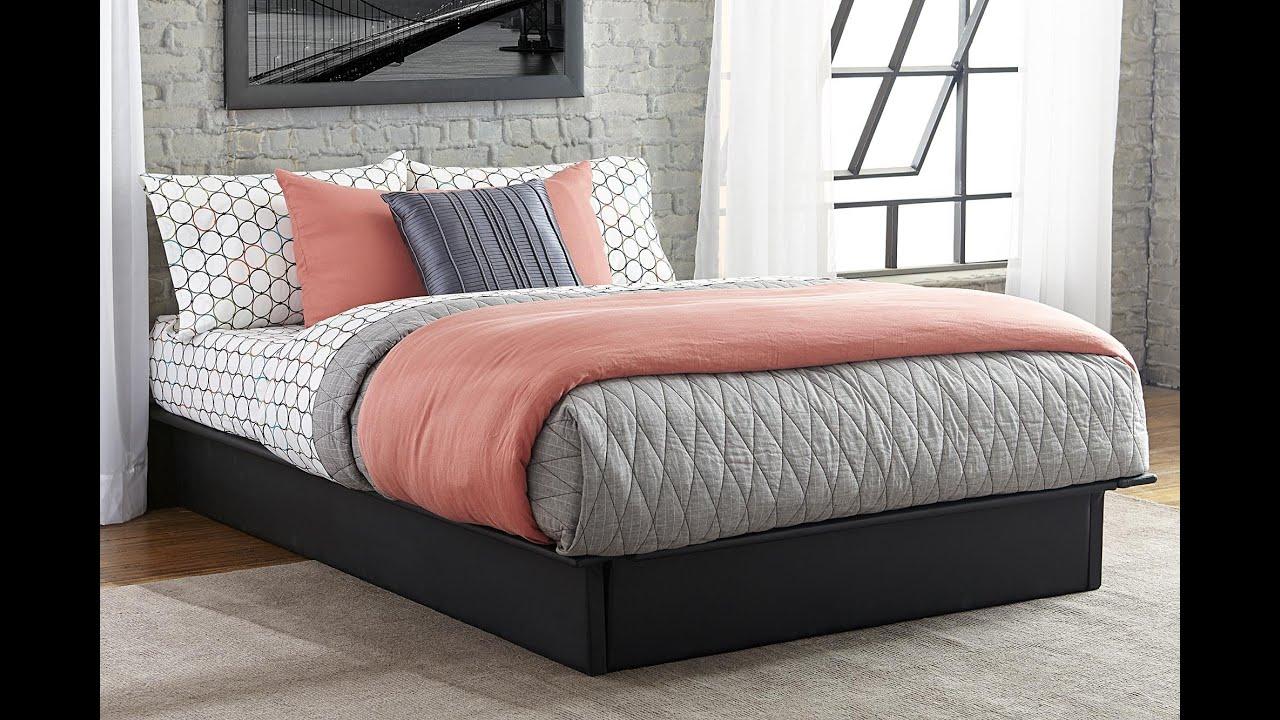 maven upholstered platform bed  youtube -