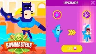 Bowmasters - Mancat and Shark the Sea Princess - Epic Victories, HD gameplay walkthrough [1]