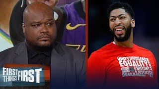 Antoine Walker breaks down which team is the best fit for Anthony Davis | NBA | FIRST THINGS FIRST