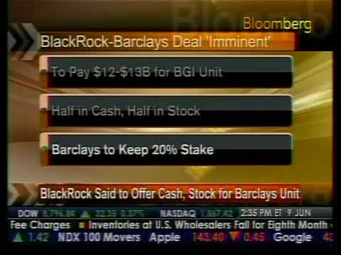 M&A Update - BlackRock-Barclays Deal - Bloomberg