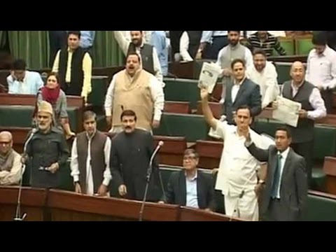 Ruckus in Jammu and Kashmir assembly over terror attacks