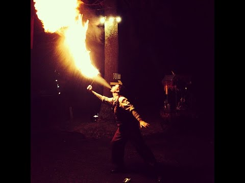 Outside entertainment at Haunted Attractions