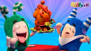 Oddbods | NEW | AT THE RESTAURANT | Funny Cartoons For Kids