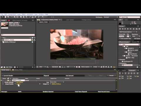 How to convert Adobe After Effects project to Video