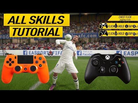 FIFA 17 ALL SKILLS TUTORIAL + SECRET SKILL MOVES & NEW SKILLS - XBOX & PLAYSTATION