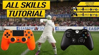 FIFA 17 ALL SKILLS TUTORIAL + SECRET SKILL MOVES & NEW SKILLS - XBOX & PLAYSTATION