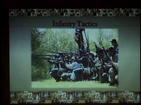 Dave Wege speaks at Einstein Middle School about Civil War Reenactment.
