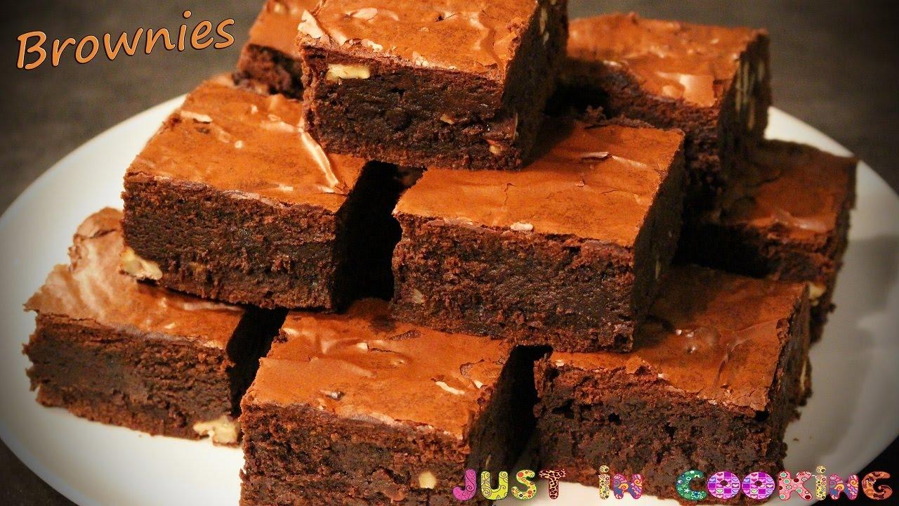 Recette des Brownies fondants au Chocolat et aux Noix. JustInCooking