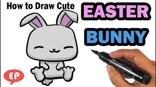 How to Draw Easter Bunny - Easy Pictures to Draw Step by Step