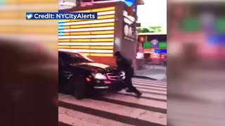 Driver strikes NYPD officer in Times Square