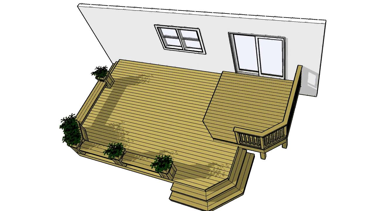 Deck plans 2lf1612 free 200 sf plan download it now youtube for Deck plans online