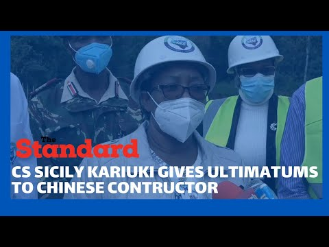 Water CS Sicily Kariuki warns Chinese company over water project delay